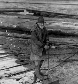 Man working on the Timber Ponds