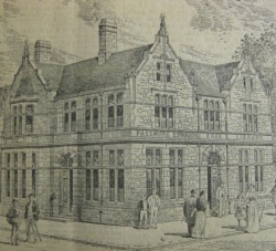 Drawing of the Truro Passmore Edwards Library